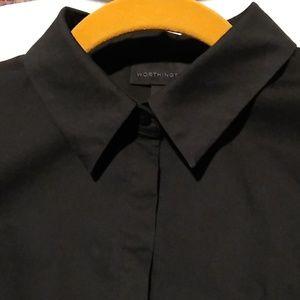 WORTHINGTON black dress shirt, 12